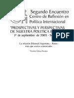 2005 IRI Relación Rusia -Argentina