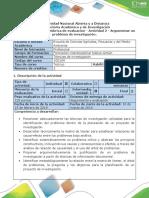 Guía de Actividades y Rúbrica de Evaluación - Actividad 2-Argumentar Un Problema de Investigación.