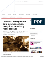 2012 Colombia. Necropolíticas de lo infecto