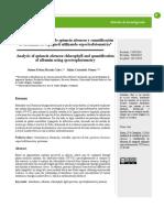 Cuantificación de Clorofila