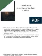 3.- La Reforma de Calvino