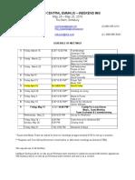 emmaus 60 schedule