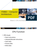 Week 3 - CPU Architecture