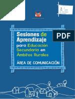 Microsoft Word - Sesiones de aprendizaje para Educación Secundaria en ámbitos rurales, área de comunicación. 2do.docx