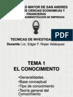 Cap 1 - TÉCNICAS DE INVESTIGACIÓN