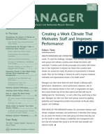 Work Climate Issue