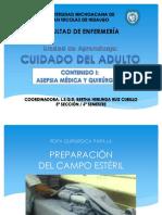 6 Preparación Del Campo Esteril