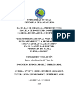 """DISEÑO ORGANIZACIONAL PARA EL CENTRO DE MANTENIMIENTO Y REPARACIÓN DE COMPUTADORAS """"MACROCOMPU""""  EN EL CANTÓN LA L.pdf"""