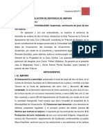 Acuerdo de La Creacion de La Comision Centroamericana de Areas Protegidas