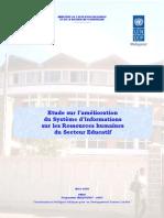 Etude sur l'amélioration du système d'information sur les ressources humaines du secteur éducatif (Mars 2005)