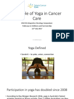 The Role of Yoga in Cancer Care for WACOG Symposium July 2017 2