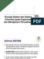 Konsep Sistem Dan SI