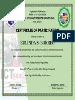 Sample Training Certificate