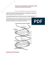Structure and Functions of Nucleic Acids