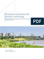 Healing environment and patients' well-being