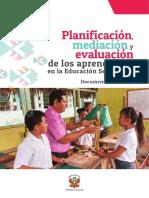 Orientaciones para la Planificación Curricular en Educación Secundaria (Doc de trabajo)