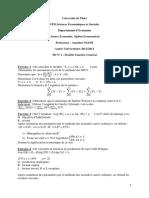 TD N°1 Modèle linéaire général