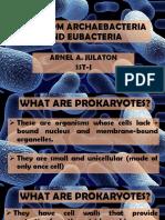 1. Kingdom Archaebacteria Eubacteria