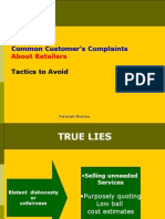 Common Customer Complaints