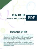 Strategic HR Roles