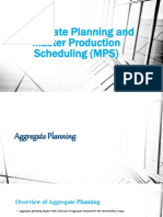 Aggregate Planning and Mps