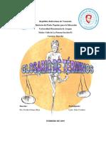 Términos de Derecho Jurídico