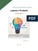 Manual Empresa e Produção_UFCD 0623