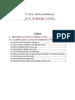 Curs 4- Actul Juridic Civil