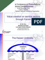Value Creation on Service Through Kaizen (Online)