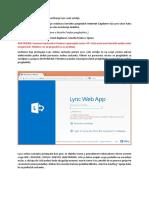 Upute Lync Web Sucelje