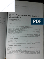 14 - Técnicas Experimentais Para Estudo Da Microestrutura