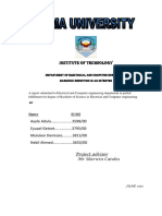 Revised Project Report Format