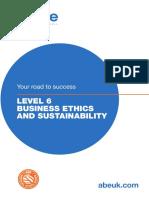 ABE LEVEL 6 BUSINESS ETHICS AND SUSTAINABILITY
