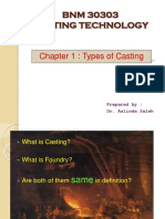 Chapter 1-Types of Casting