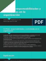 5.3 Roles Responsabilidades y Autoridades de La Organizacion