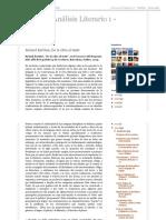 Teoría y Análisis Literario 1 - UNLPam_ Roland Barthes, De La Obra Al Texto