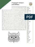 ACT1 - List of Verbs II Wordsearch