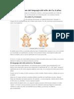 Desarrollo y Fases Del Lenguaje Del Niño de 0 a 6 Años