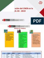 Implementación Del CNEB en La UGEL 03 - 2019 Agenda de Trabajo. Material compartido por José Antonio Peñafiel Vásquez