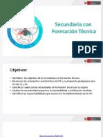 Secundaria Con Formación Técnica - Ministerio de Educación - Febrero 2019. Material compartido por José Antonio Peñafiel Vásquez