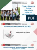 Primera Asistencia Técnica Dirección de Educación Secundaria 2019. Material compartido por José Antonio Peñafiel Vásquez