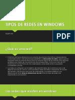 Tipos de Redes en Windows