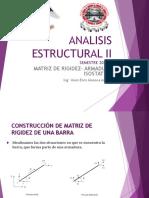 ANALISIS ESTRUCTURAL II Matriz de Rigidez Armadura Isostatica