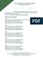 Council of Ohio Audubon Chapters (COAC) Calls, Meetings, And Workshops Calendar 2019-2023