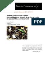 Charrier (2004) - Declíneo Global de Anfbios - Caso Rhinoderma Darwini