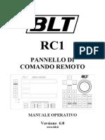 BLT RC1 Pannello di Comando Remoto - manuale operativo v6.0