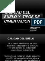 Suelo y Tipos de Cimentacion - Pablo Gonzaga Christian