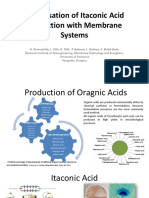 Optimsation of Itaconic Acid Production With Membrane Systems