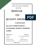 Seminar-Quality Assurance Correction Asir