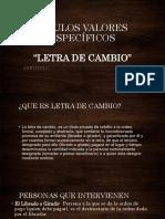 LETRA DE CMABIO